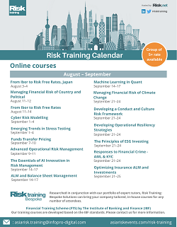 Asia Risk Training Calendar 2020