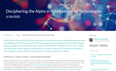 Deciphering the Alpha in Asia Innovative Technologies