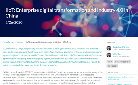 IIoT_Enterprise digital transformation and Industry 4.0 in China